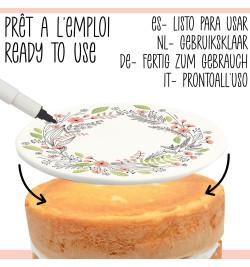 Rouleau pâte à sucre à personnaliser Flower réf.7299