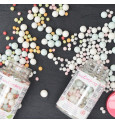 Pot de décors sucrés bubbles pastel