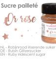 Pot de sucre pailleté or rose