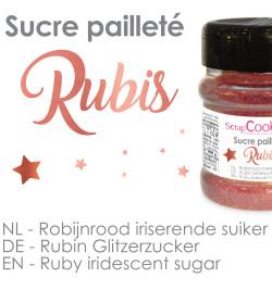 Pot de sucre pailleté rubis réf.4548