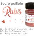 Pot de sucre pailleté rubis