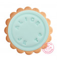 Cookie stamp with customisable pad