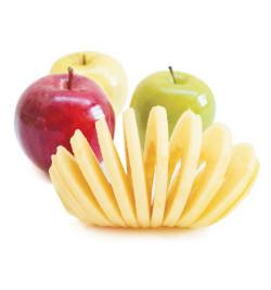 Pomme tranchée avec pèle-pomme 5255