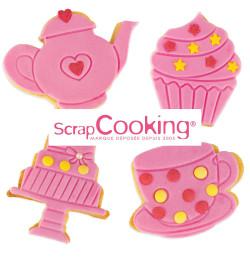 Réalisation avec Kit je fais mes biscuits pour le thé réf.2033