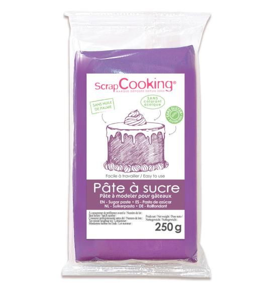 Pâte à sucre violette 250g