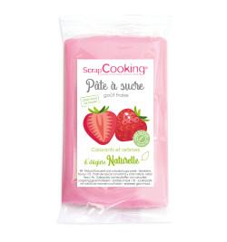 Pâte à sucre rose goût fraise 250gr R2F;7282