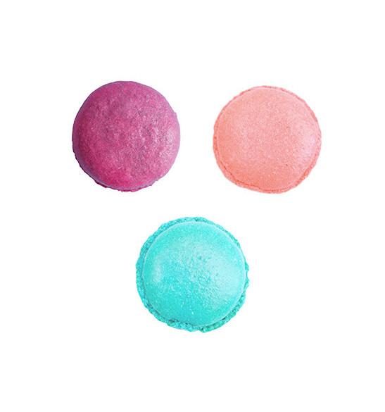 3 colorants en poudre Sirène pourpre, rose poudré, turquoise