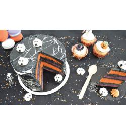 Pot of orange/black/white sugar strands 80g réf.7446