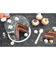 Pot de décors sucrés vermicelles orange/noir/blanc