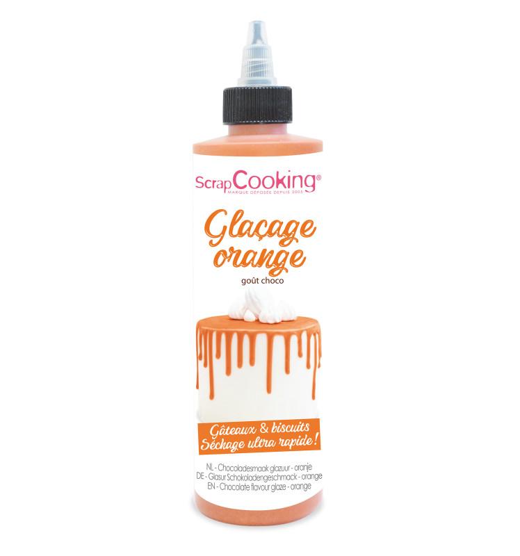 Chocolate flavour glaze orange - Drip cake