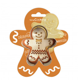 Cookie cutter + wood...