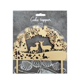 Cake topper led Forêt enchantée réf.4949