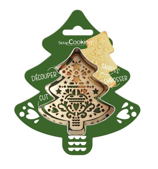 Cookie cutter + wood embosser Fir tree
