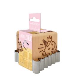 Unicorn wood cookie stamp +...