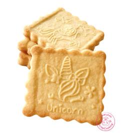 Réalisation avec Tampon à biscuits bois licorne + découpoir réf.5123