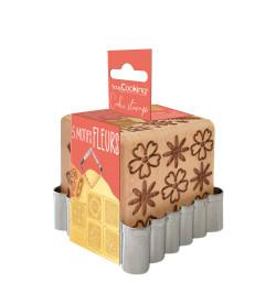 Flower wood cookie stamp +...