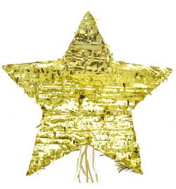 Piñata étoile dorée réf.0423