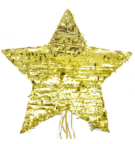 Piñata étoile dorée