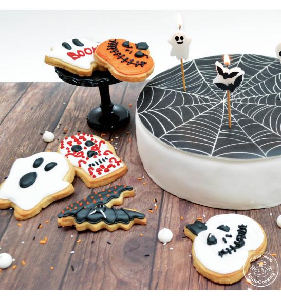Rouleau pâte à sucre toile d'araignée