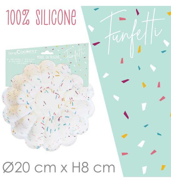 Moule silicone charlotte 20 cm Funfetti