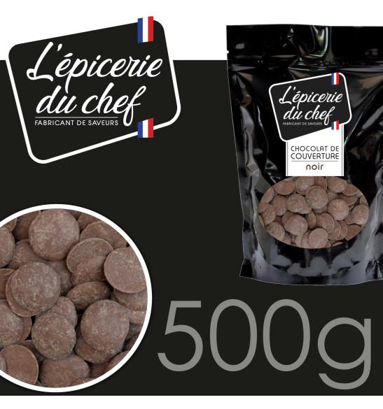 Palets de chocolat noir 500g