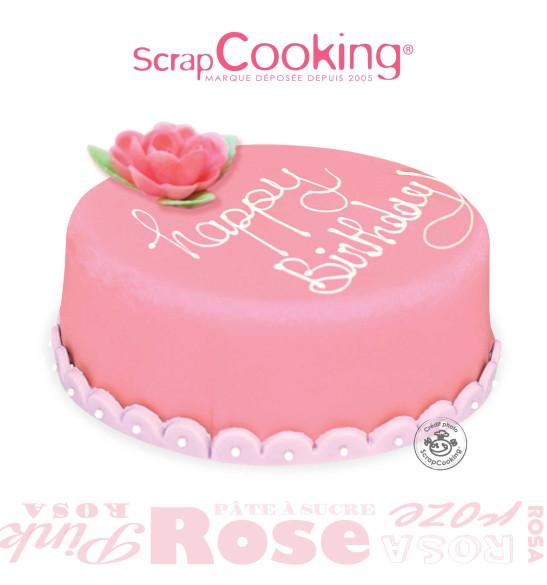 Pâte à sucre rouleau rose 36 cm