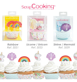 Gamme cake topper + caissettes