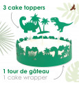 Cake scenery wrapper + cake toppers Dino