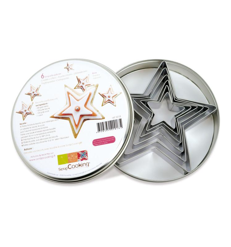 Boîte 6 emporte-pièces étoiles