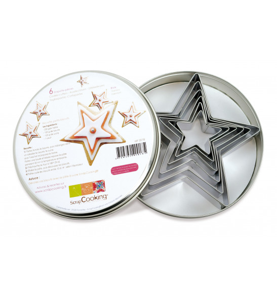 Set of 6 Star cookie cutters