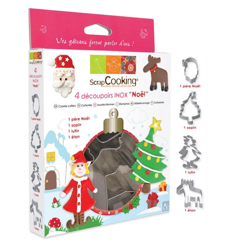 Boîte de 4 découpoirs Noël