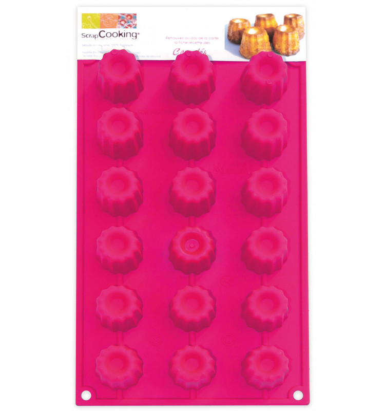 ScrapCooking® silicone mould with 18 cannelé cavities