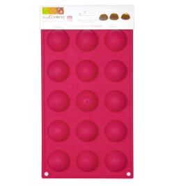 Moule silicone 15 demi-sphères réf.3113