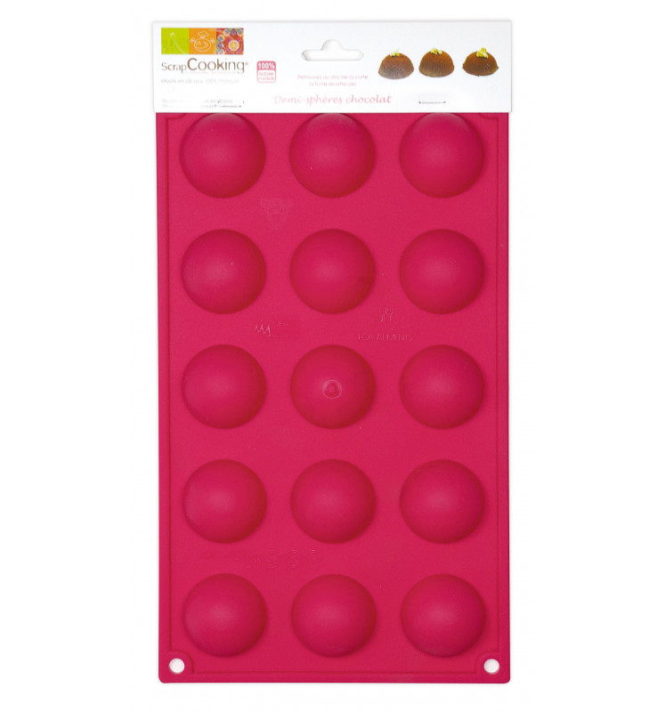 ScrapCooking® silicone mould with 15 hemisphere cavities