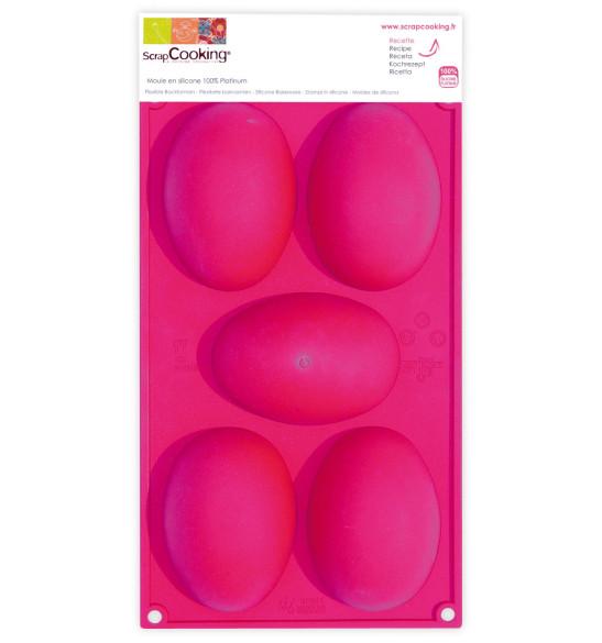 Moule silicone chocolat 5 œufs de Pâques
