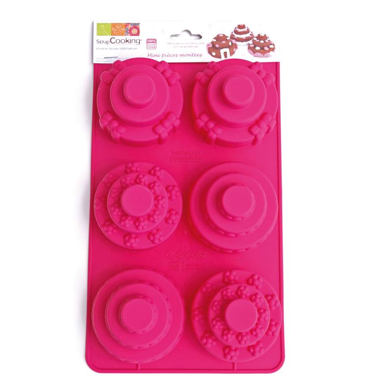 Moule à gâteaux silicone 6 mini pièces montées