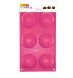 Moule silicone 6 demi-sphères