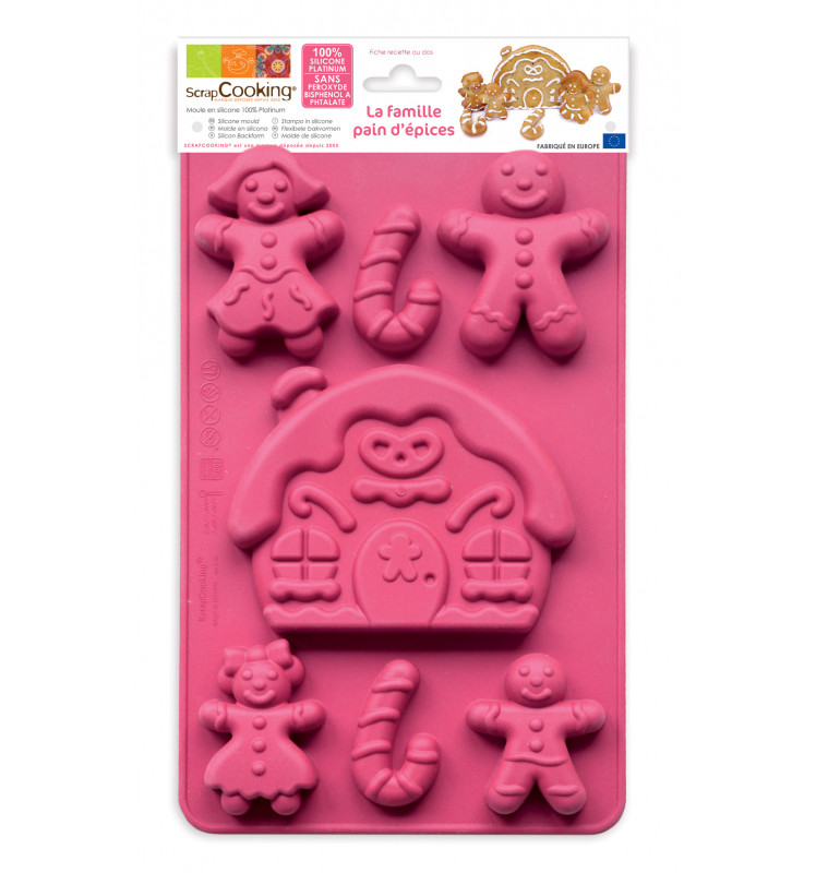 ScrapCooking® silicone gingerbread family mould