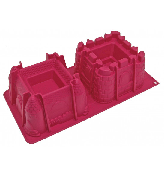 ScrapCooking® silicone mould with 2 castle cavities