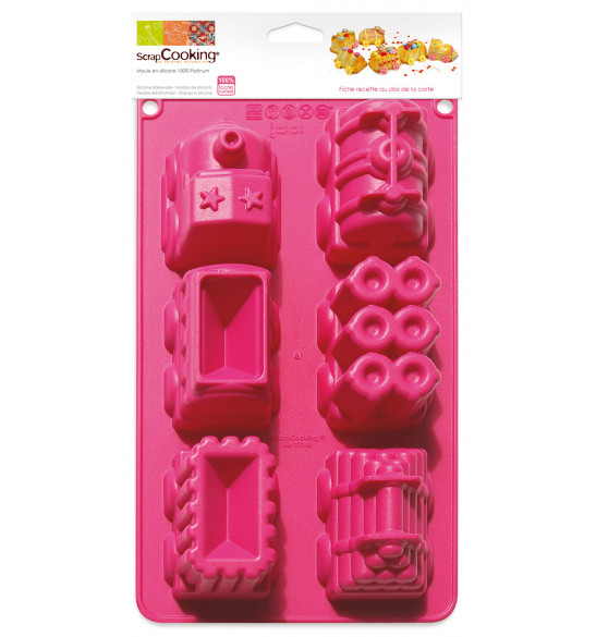 ScrapCooking® silicone train mould