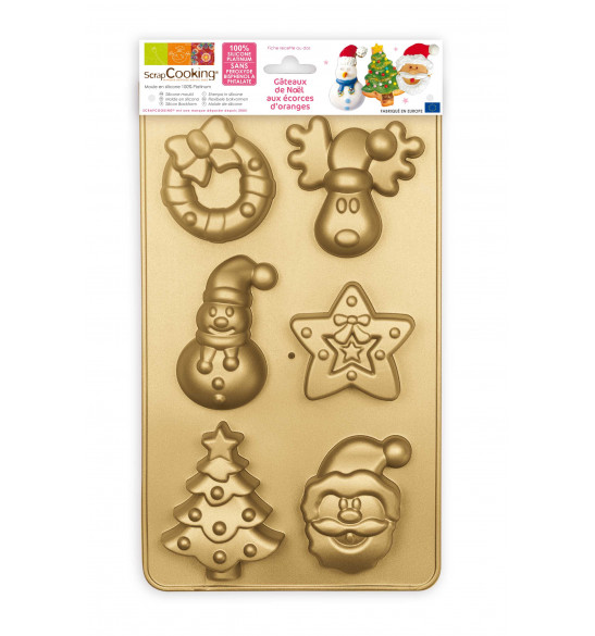 ScrapCooking® silicone mould with 6 Christmas-themed cavities