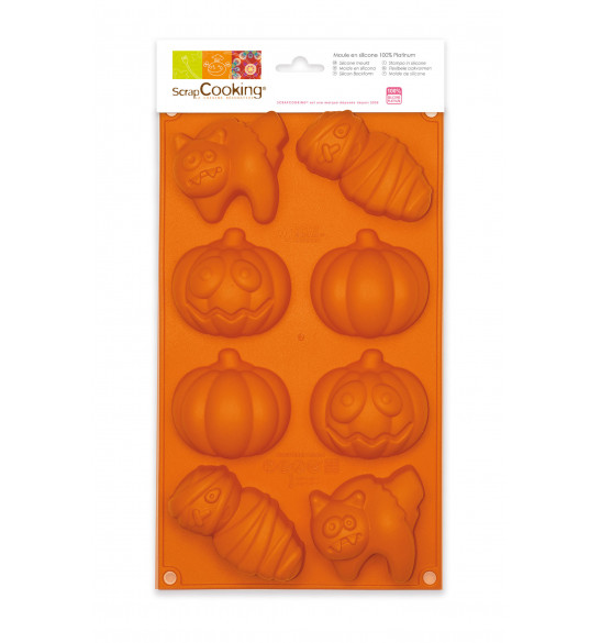 ScrapCooking® silicone mould with 8 Halloween-themed cavities