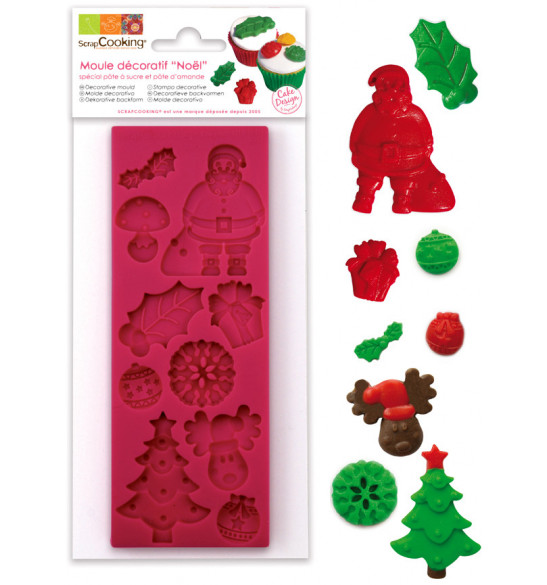 ScrapCooking® silicone mould for making Christmas-themed sweet scenery