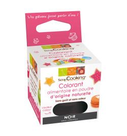 Colorant alimentaire en poudre d'origine naturelle noir réf.4203