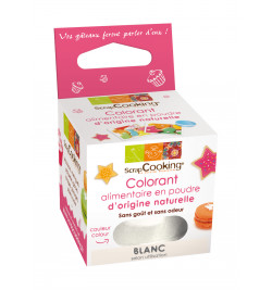 Colorant alimentaire en poudre d'origine naturelle blanc réf.4204