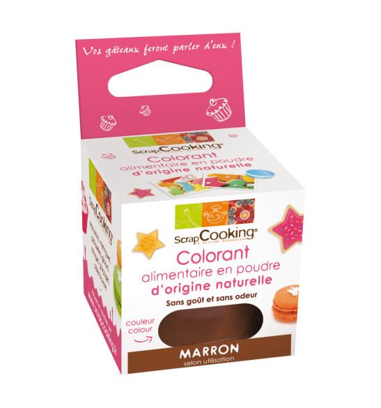 """Colorant alimentaire en poudre d'origine naturelle """"Marron"""""""