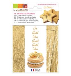 Carnet de 5 feuilles d'or 22 carats réf.4300