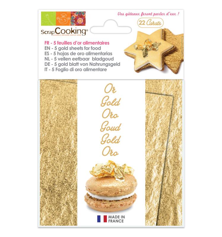 Carnet de 5 feuilles d'or 22 carats