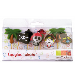Lot de 8 bougies pirates réf.5000