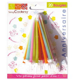 Lot de 20 bougies assorties réf.5003